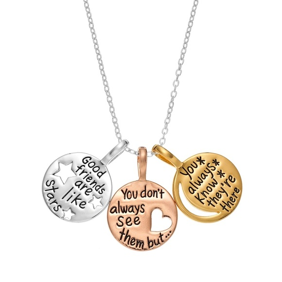 """Timeless Jewelry - Timeless Sterling Silver """"Friend"""" Pendant Necklace"""